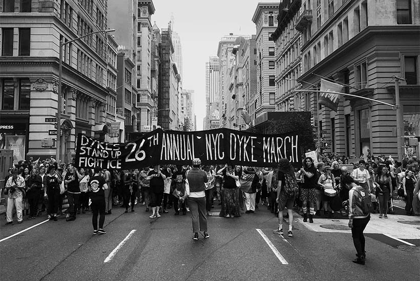 marchers at the 26th Annual Dyke March in New York City