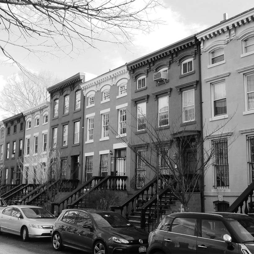 rowhouses on St. Felix Street in Brooklyn