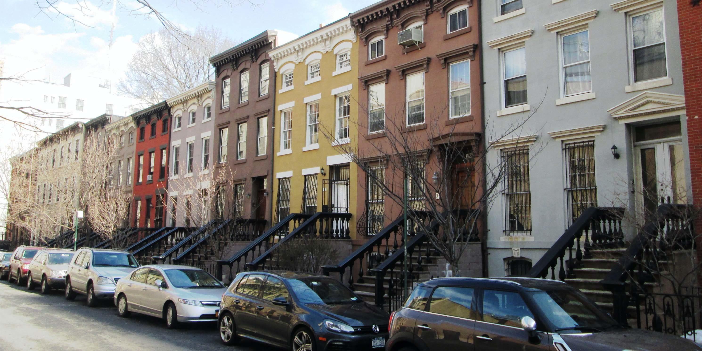 rowhouses on St. Felix Street in Brooklyn