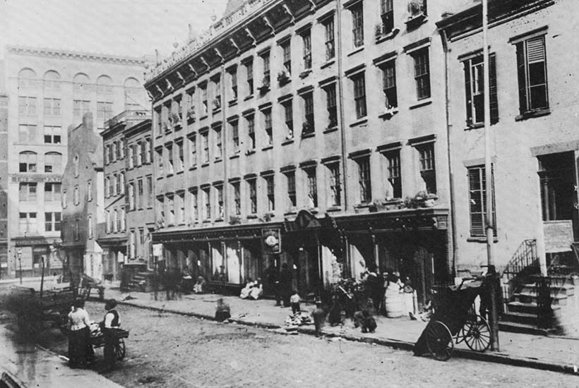 Mott Street around the early 20th Century