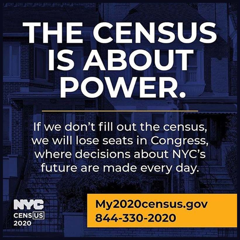 advertisement for the 2020 census