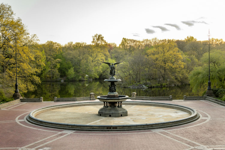 Bethesda Terrace featuring Angel of the Waters in Central Park