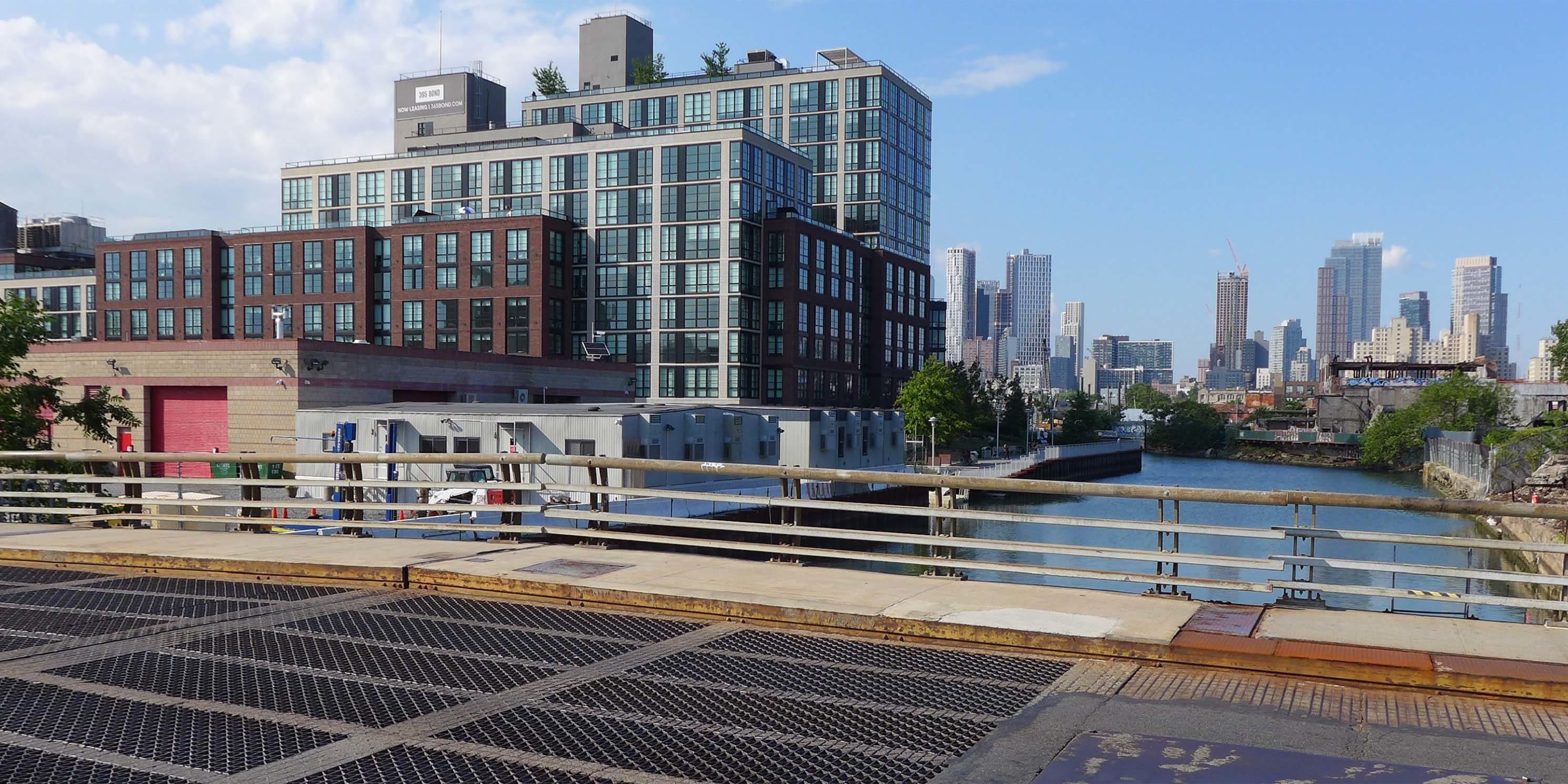 the Gowanus Canal as seen from a bridge