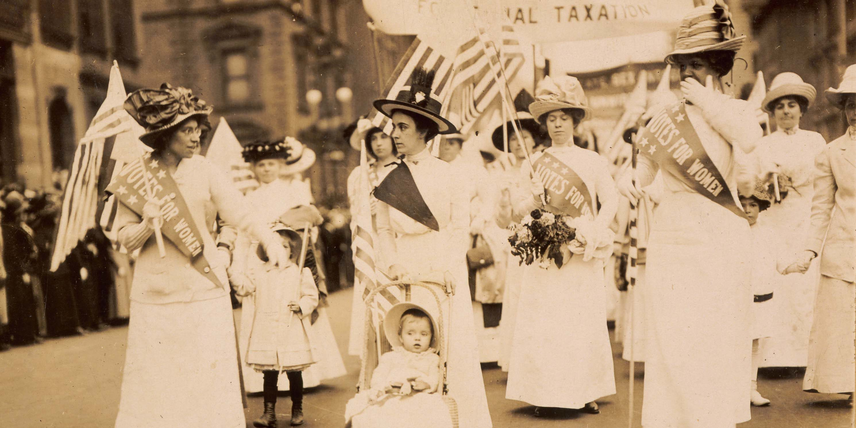 women march in Suffrage Parade in New York City, 1912