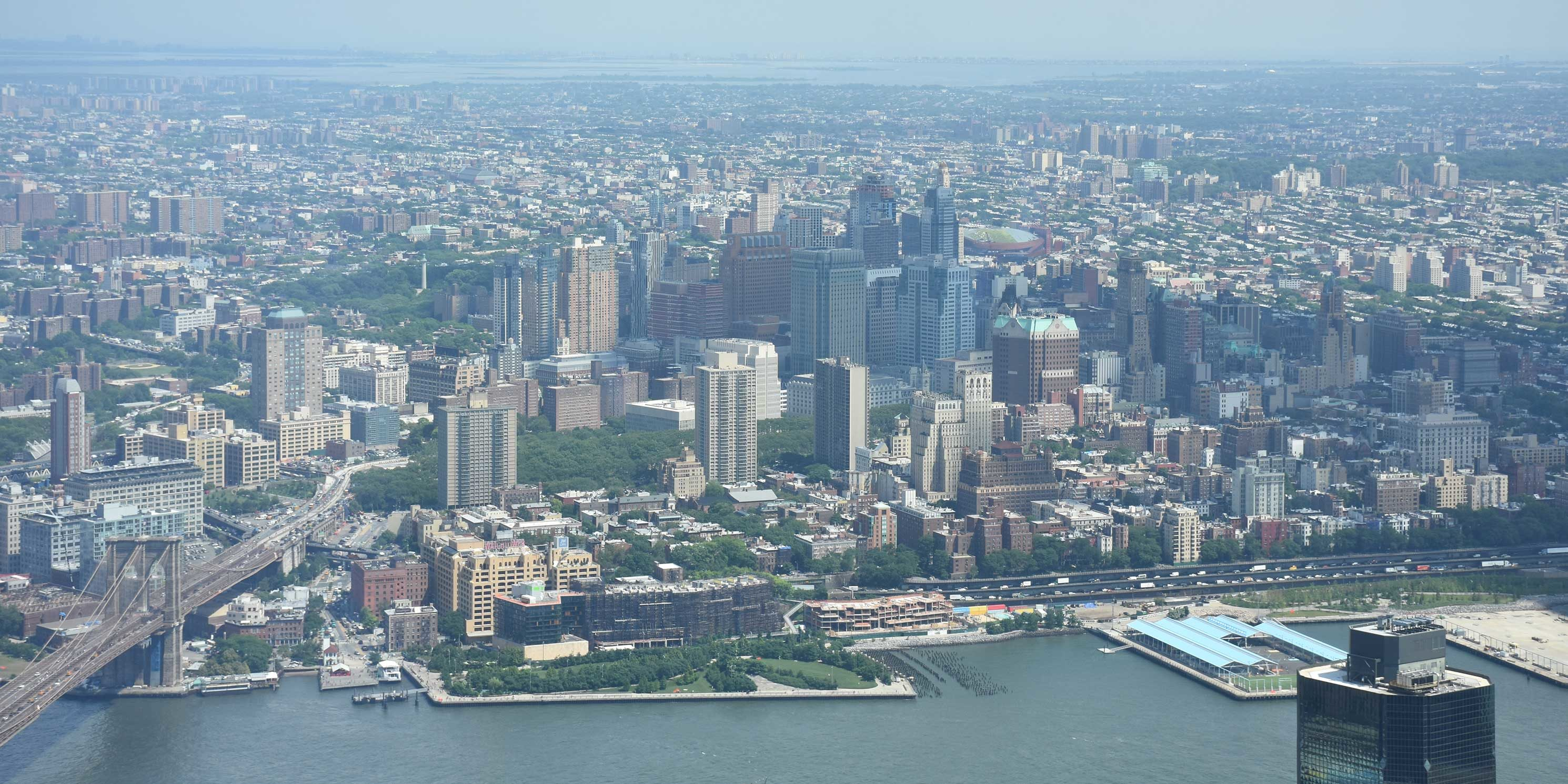 aerial view of Downtown Brooklyn