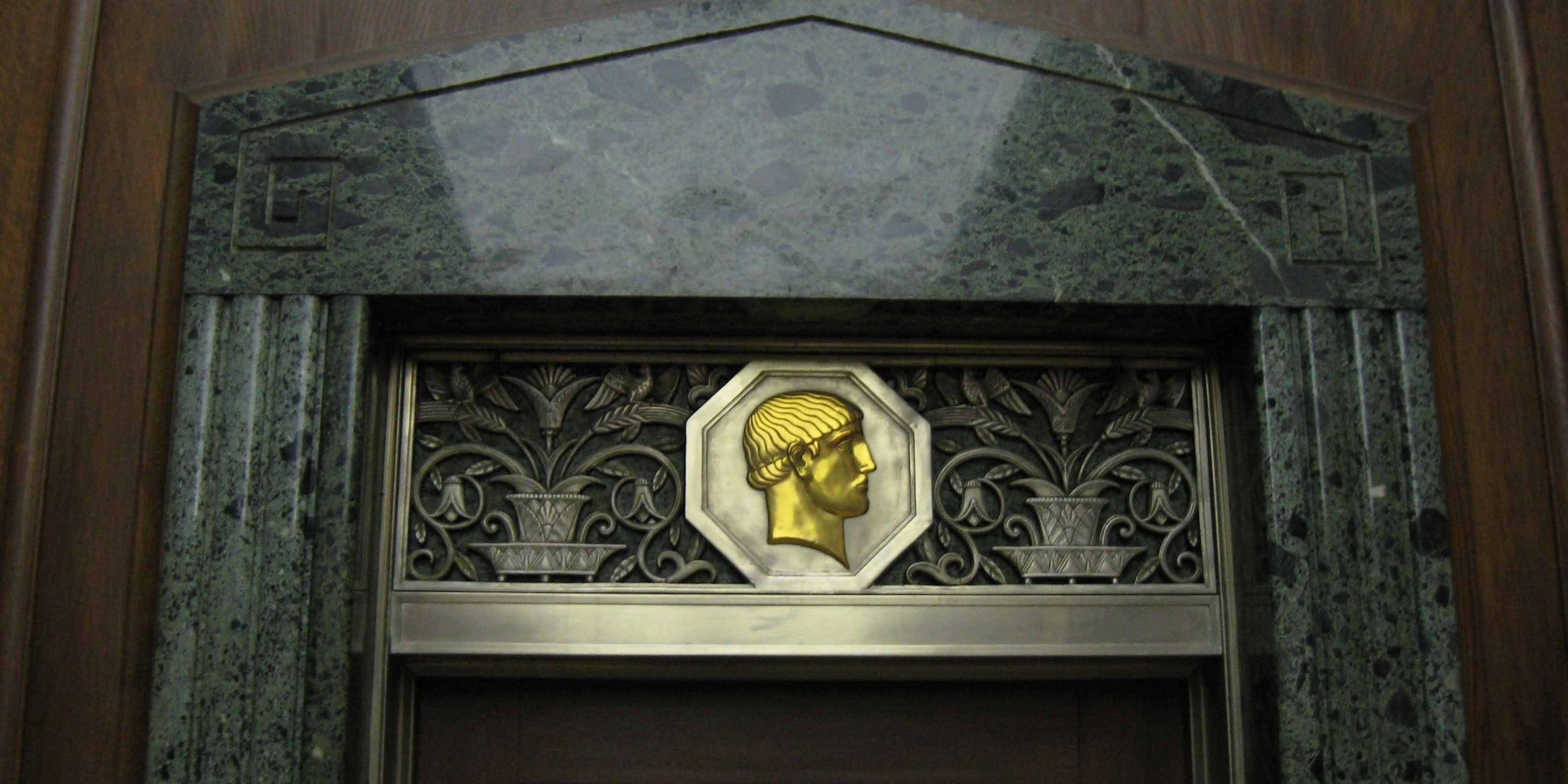 ornate doorframe at 20 Exchange Place