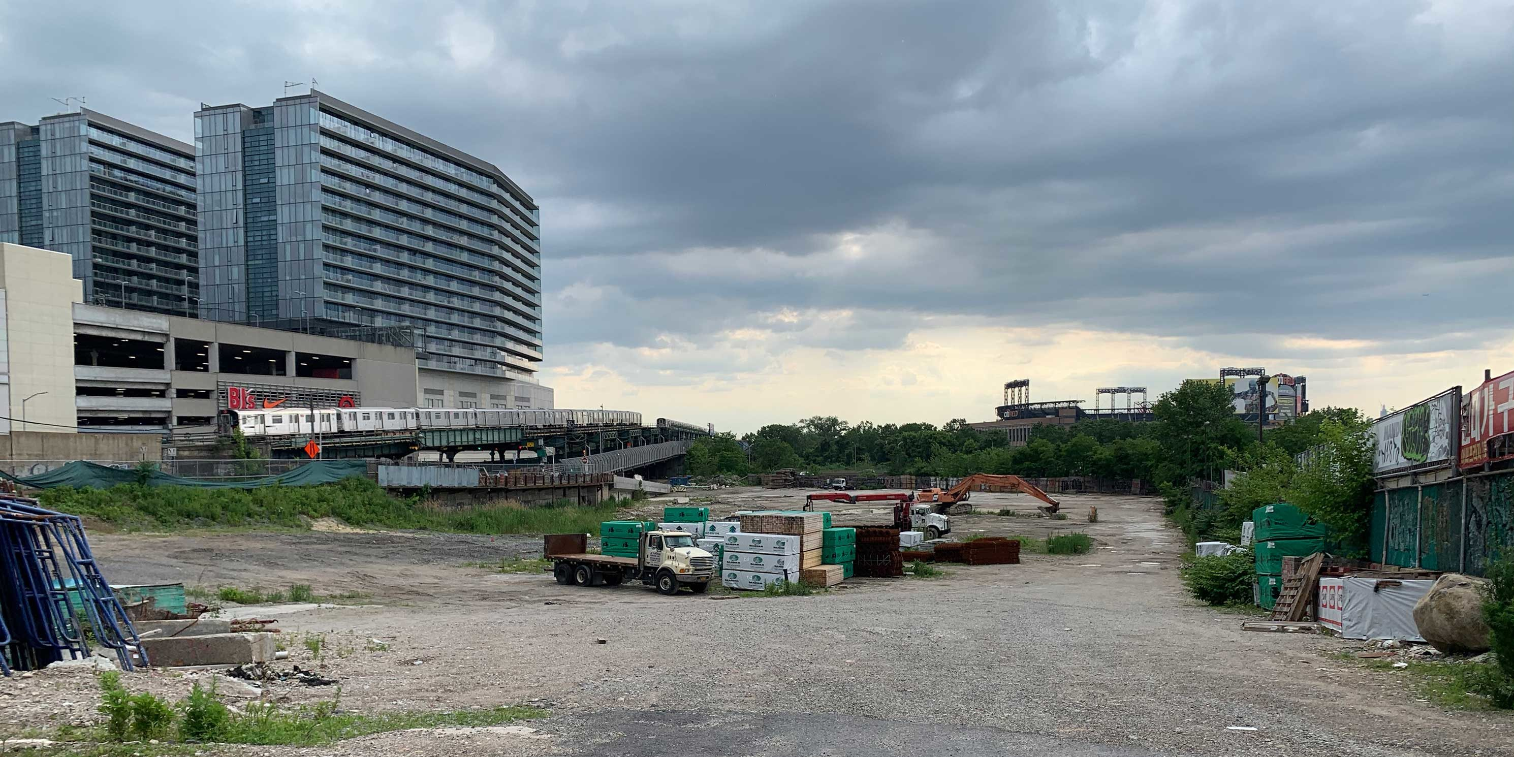 site cleared for development in Flushing, Queens