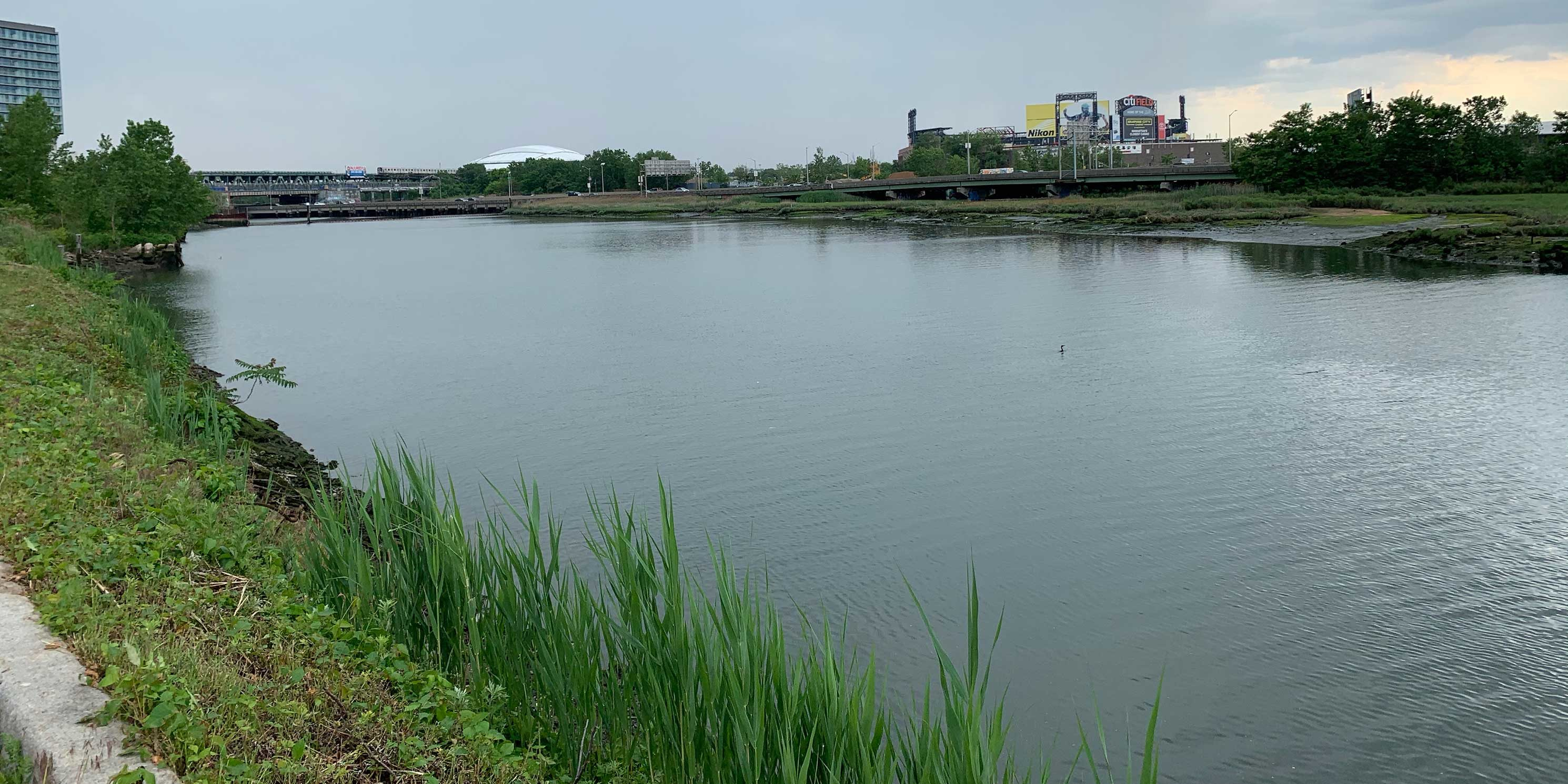 South view of Flushing Creek in Flushing, Queens