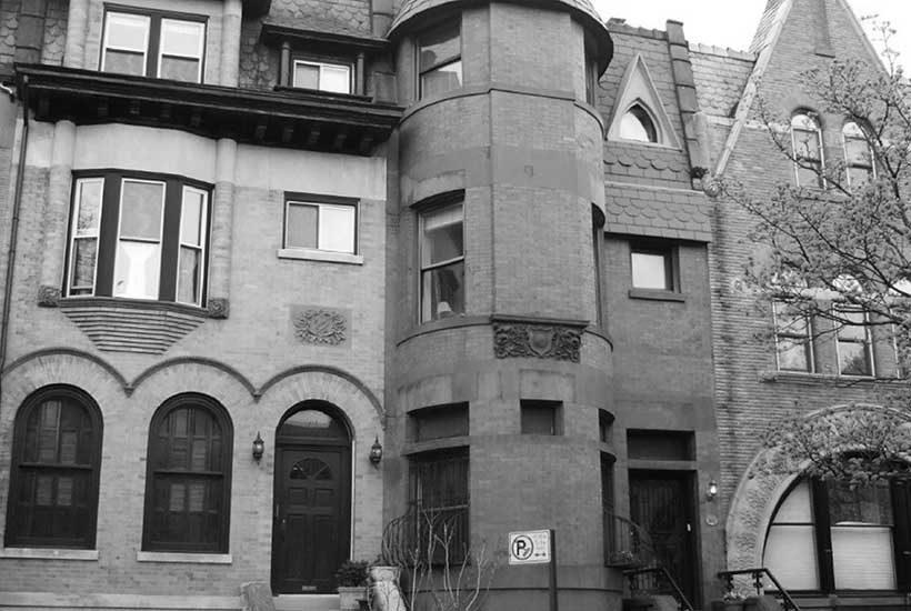 brownstones on Garfield Place in Brooklyn