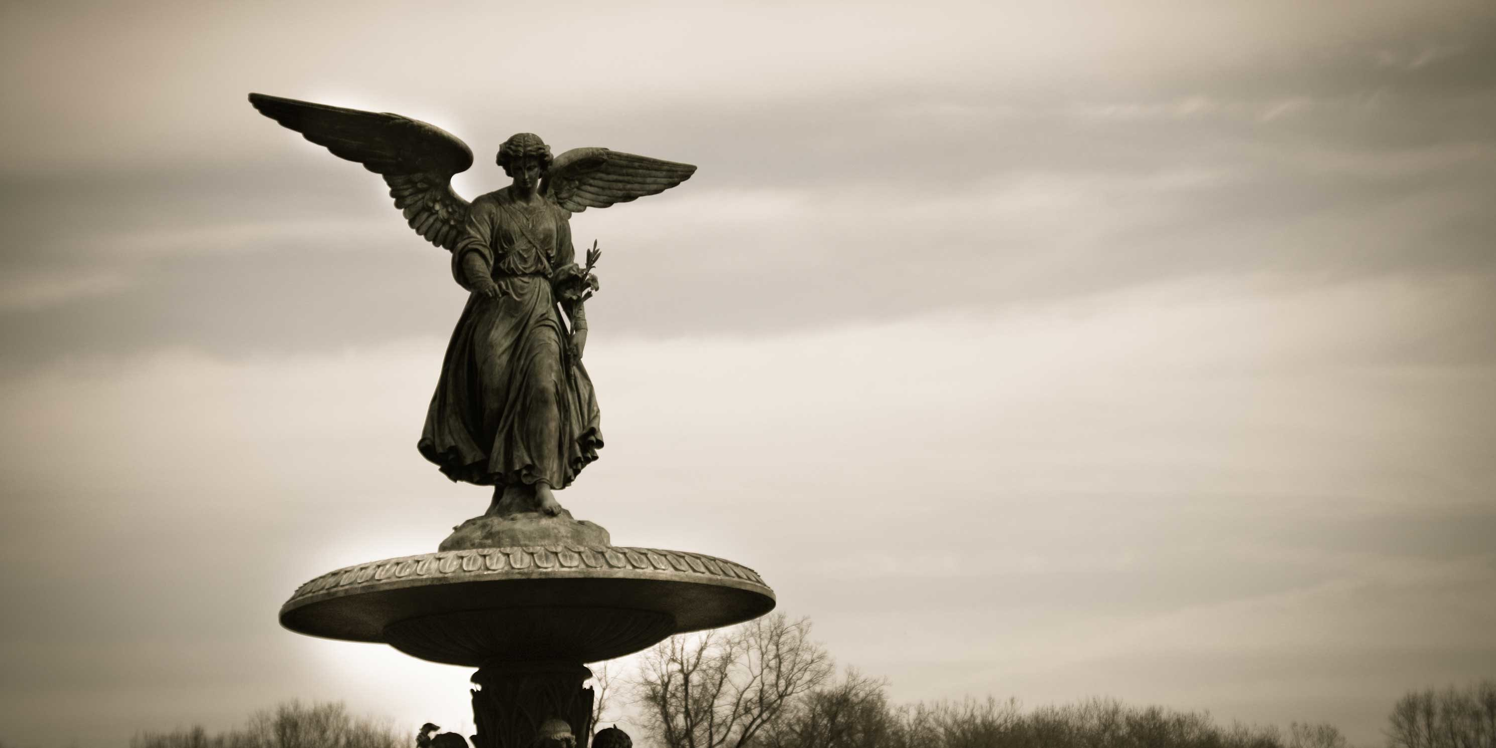 angel atop Bethesda Fountain in Central Park