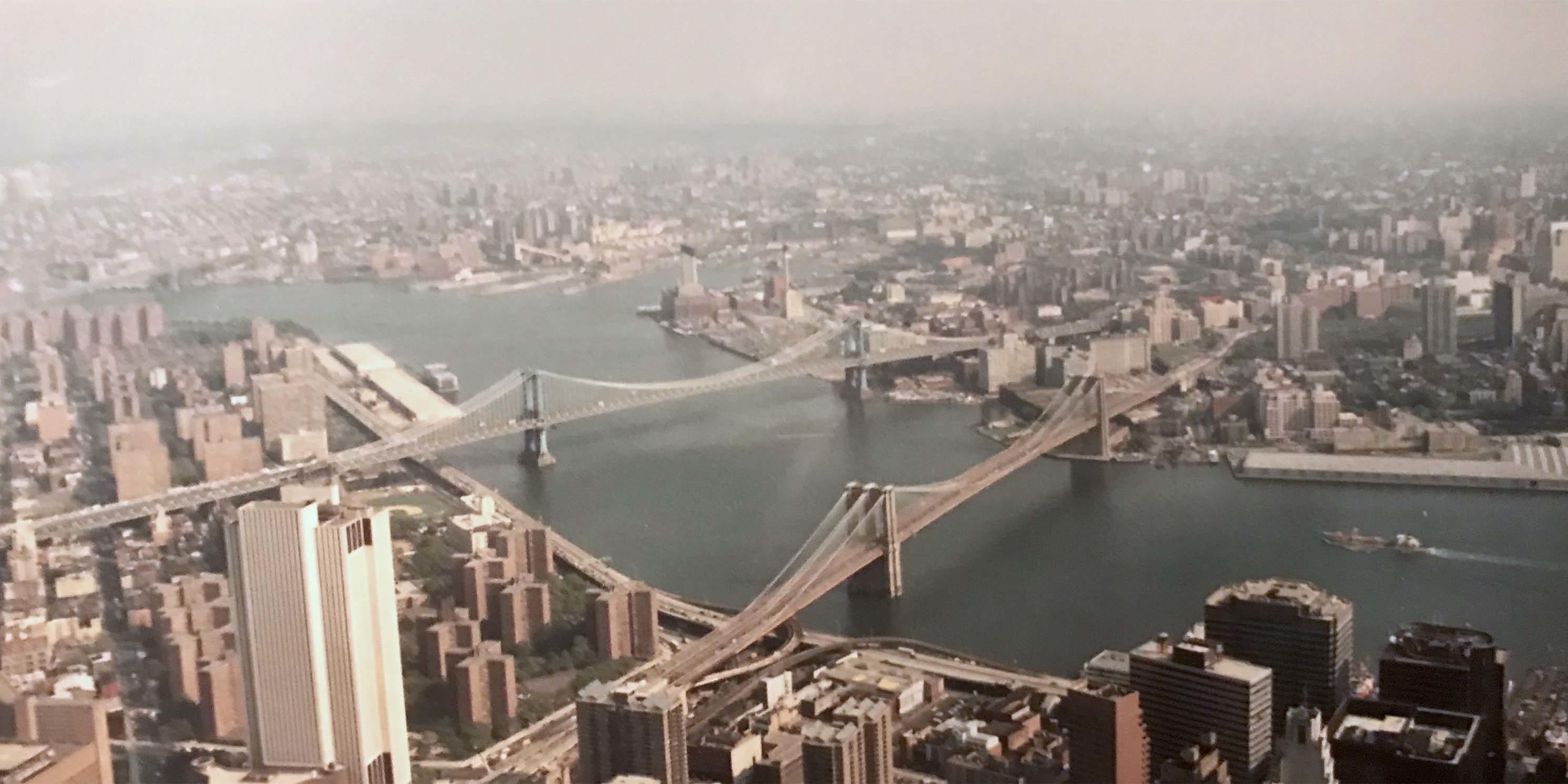Brooklyn and Manhattan Bridges as seen from above