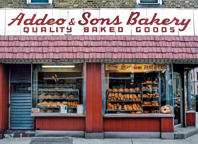exterior of Addeo and Sons Bakery