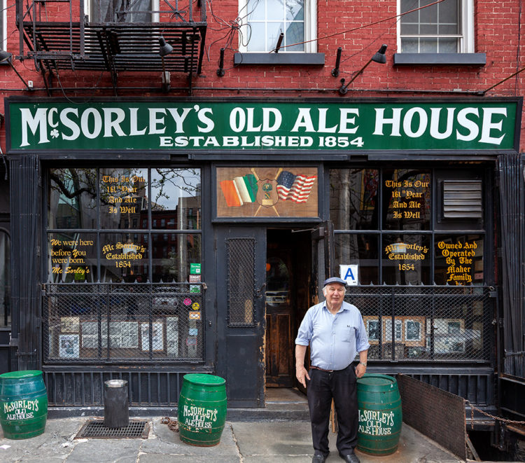 exterior of McSorley's Old Ale House