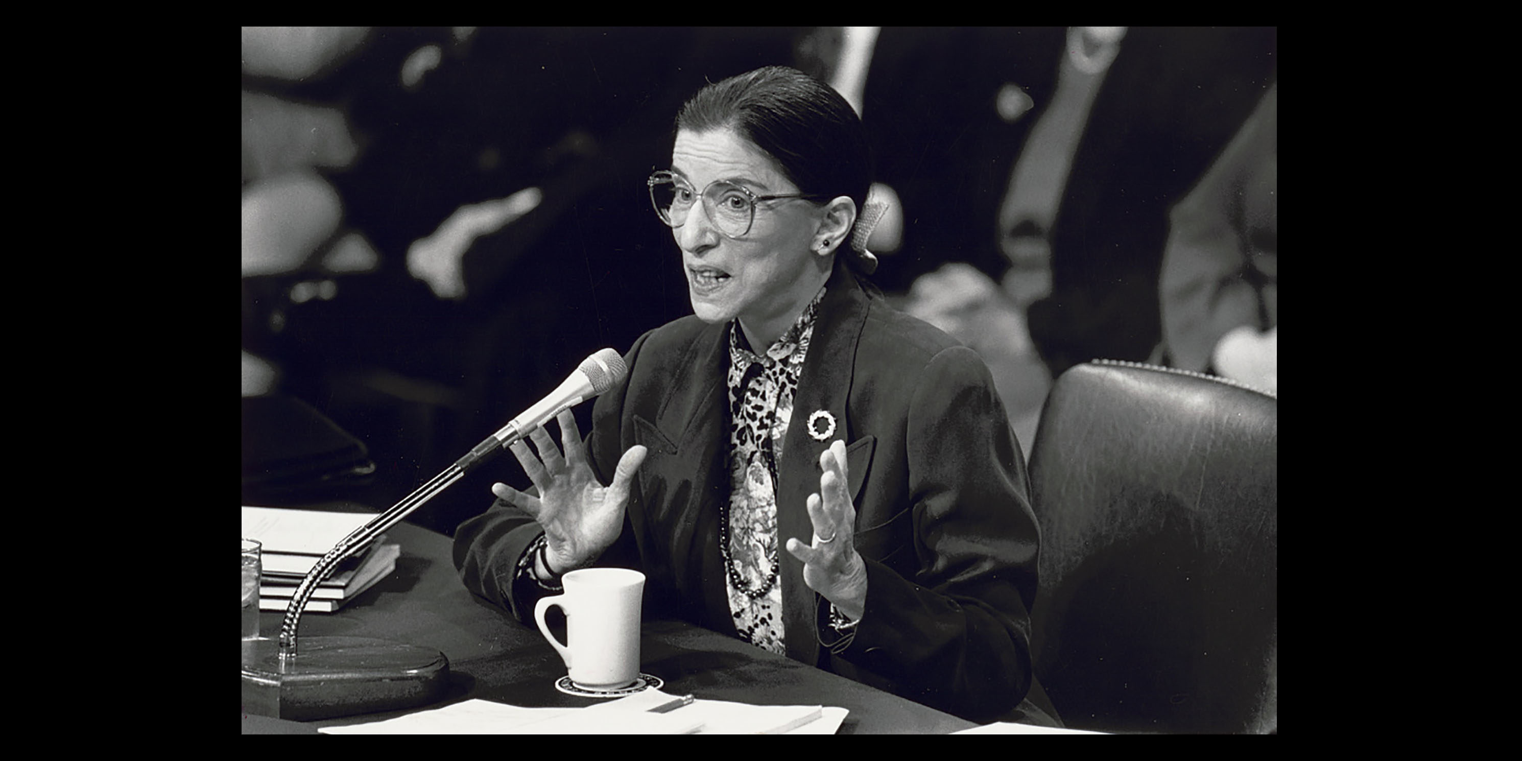 Ruth Bader Ginsburg speaks at her confirmation hearing