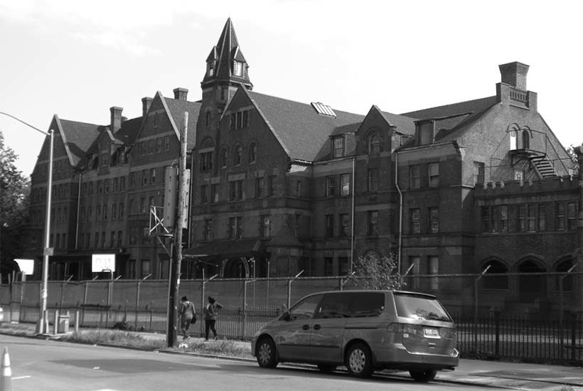 exterior of the Hebron School in Crown Height North, Brooklyn