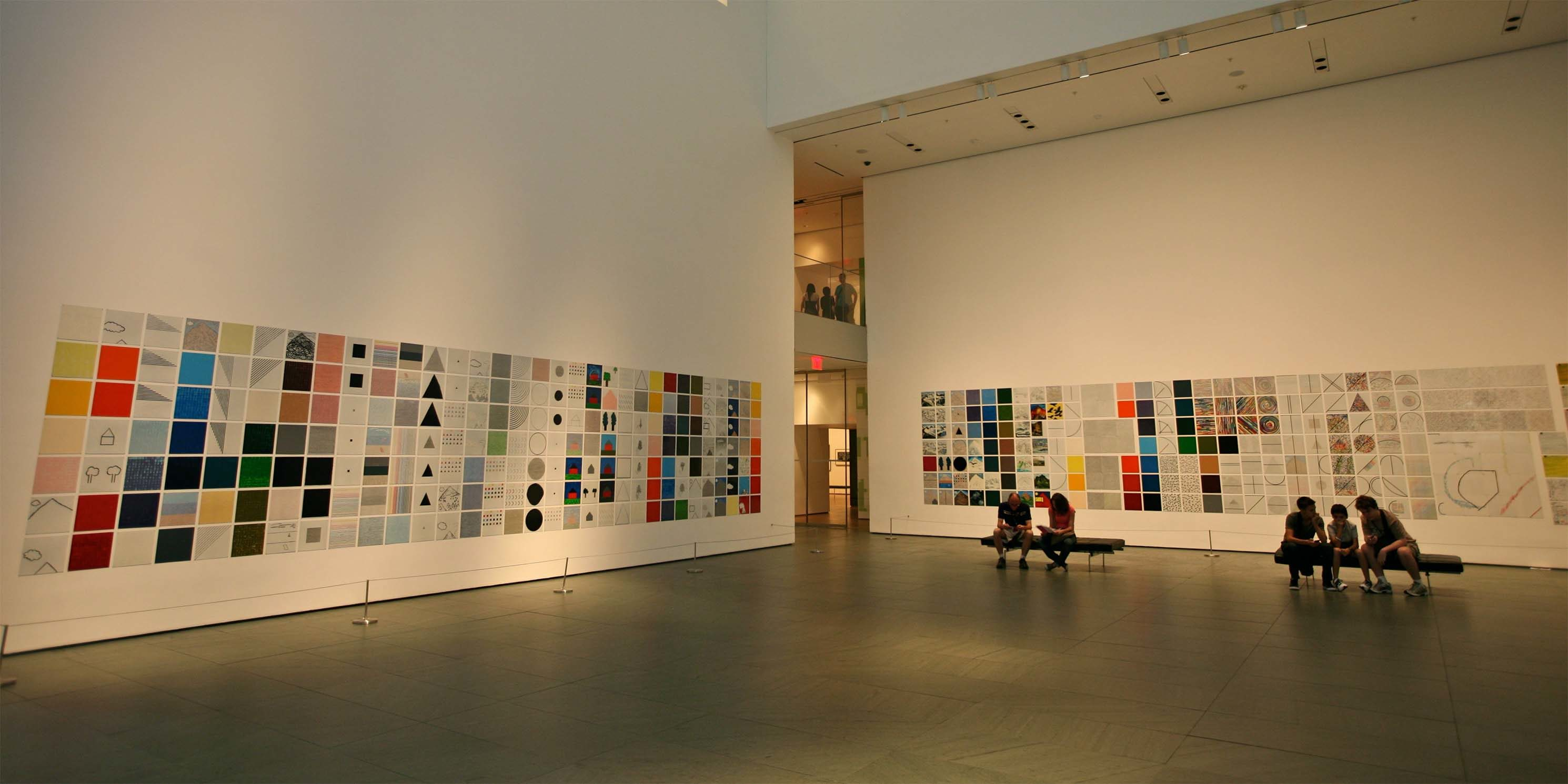 gallery with visitors at the Museum of Modern Art in New York