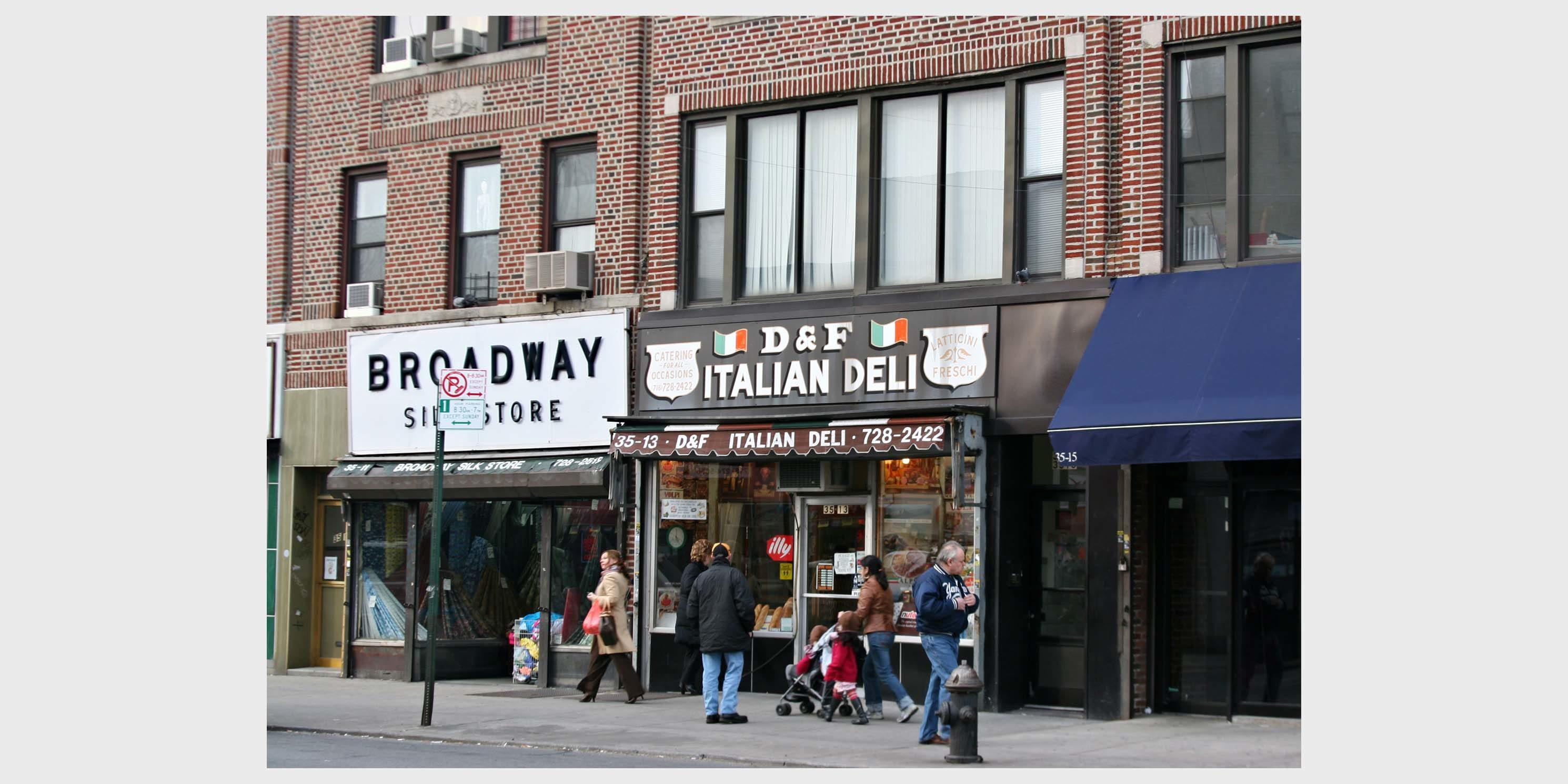 storefronts in Astoria, Queens