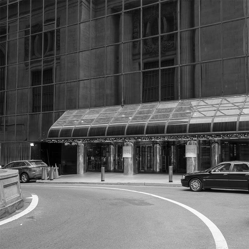 taxi stand at the Grand Hyatt Hotel in Manhattan