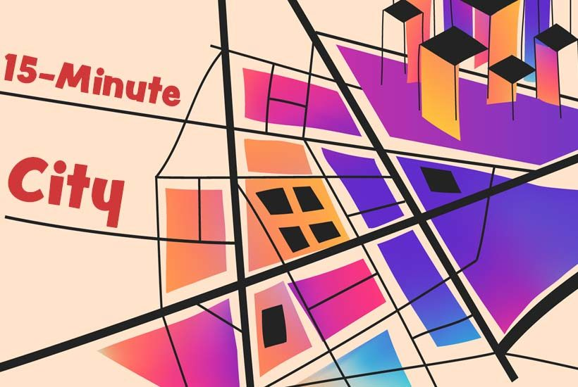 graphic advertising the event 15 Minute City